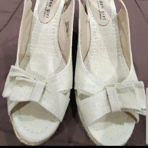 Wedge slingback sandals